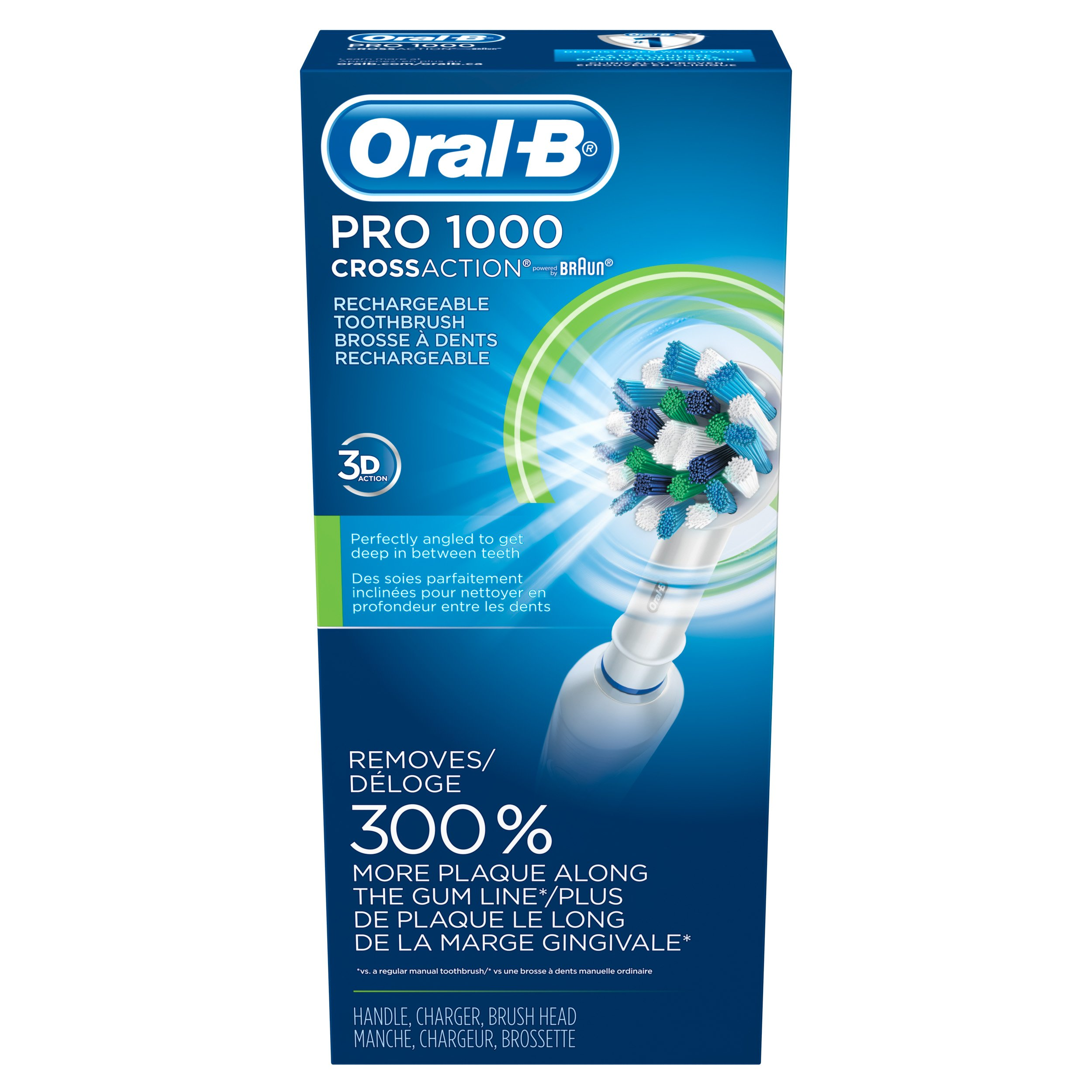 galleon oral b white pro 1000 power rechargeable. Black Bedroom Furniture Sets. Home Design Ideas