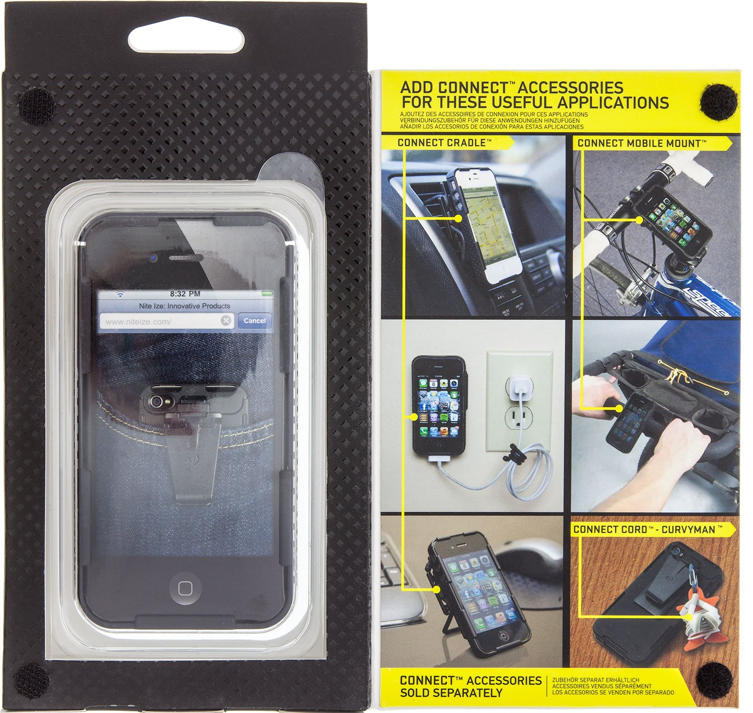 iPhone 4/4S Connect Case - Black Solid by Nite Ize