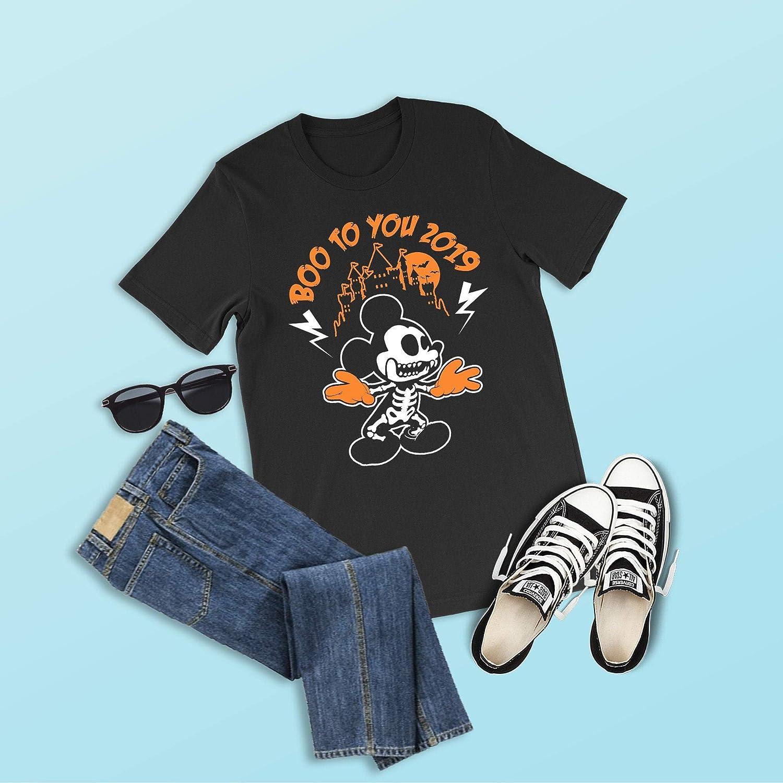 Disney Halloween Shirts 2019.Amazon Com Boo To You 2019 Shirt Mickey Skeleton Shirts
