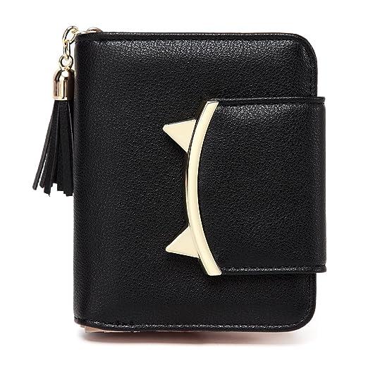 ded05b8024bf Women Cute Cat Mini Wallets Design Coin Purse Leather Tassel Wallet
