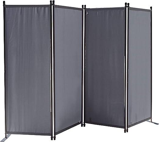 QUICK STAR Paravent 220 x 165 cm Tejido Divisor de habitación Jardín 4-Partición Pared de separación Plegable Balcón Pantalla de privacidad Gris: Amazon.es: Juguetes y juegos
