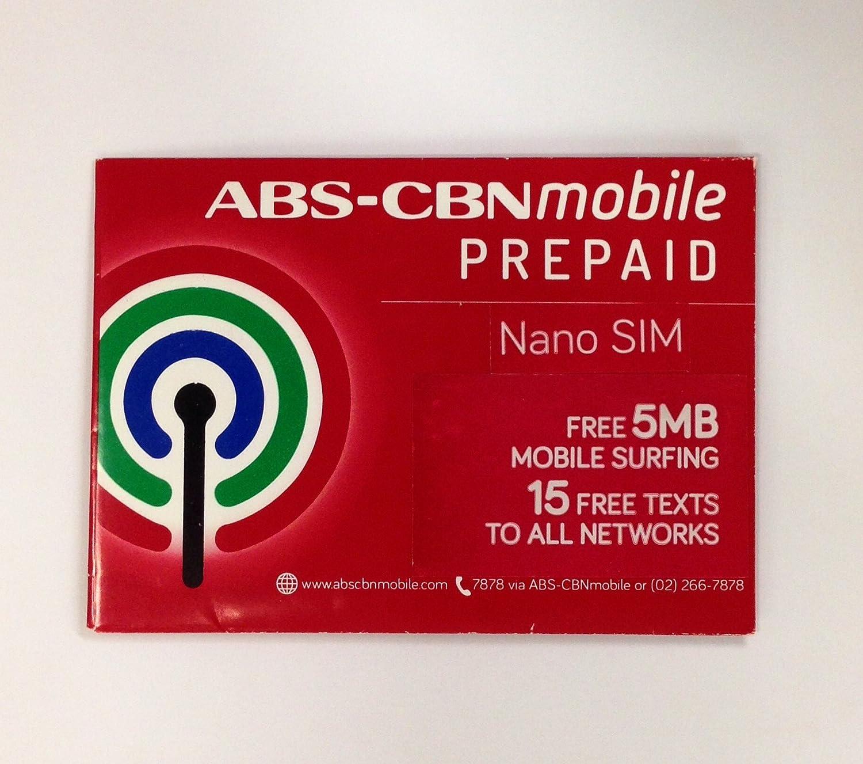 Amazon.com: abs-cbn Mobile Nano SIM de Prepago Pack