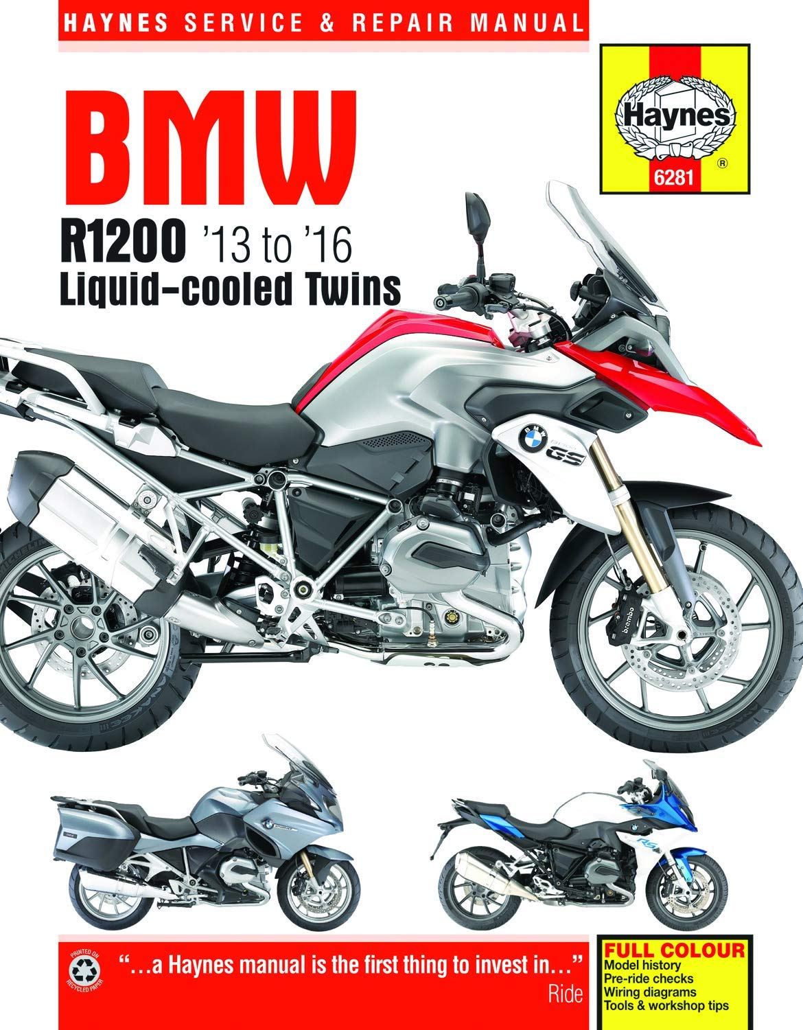BMW R1200 Liquid-cooled Twins (13-16) Haynes Repair Manual (Haynes on