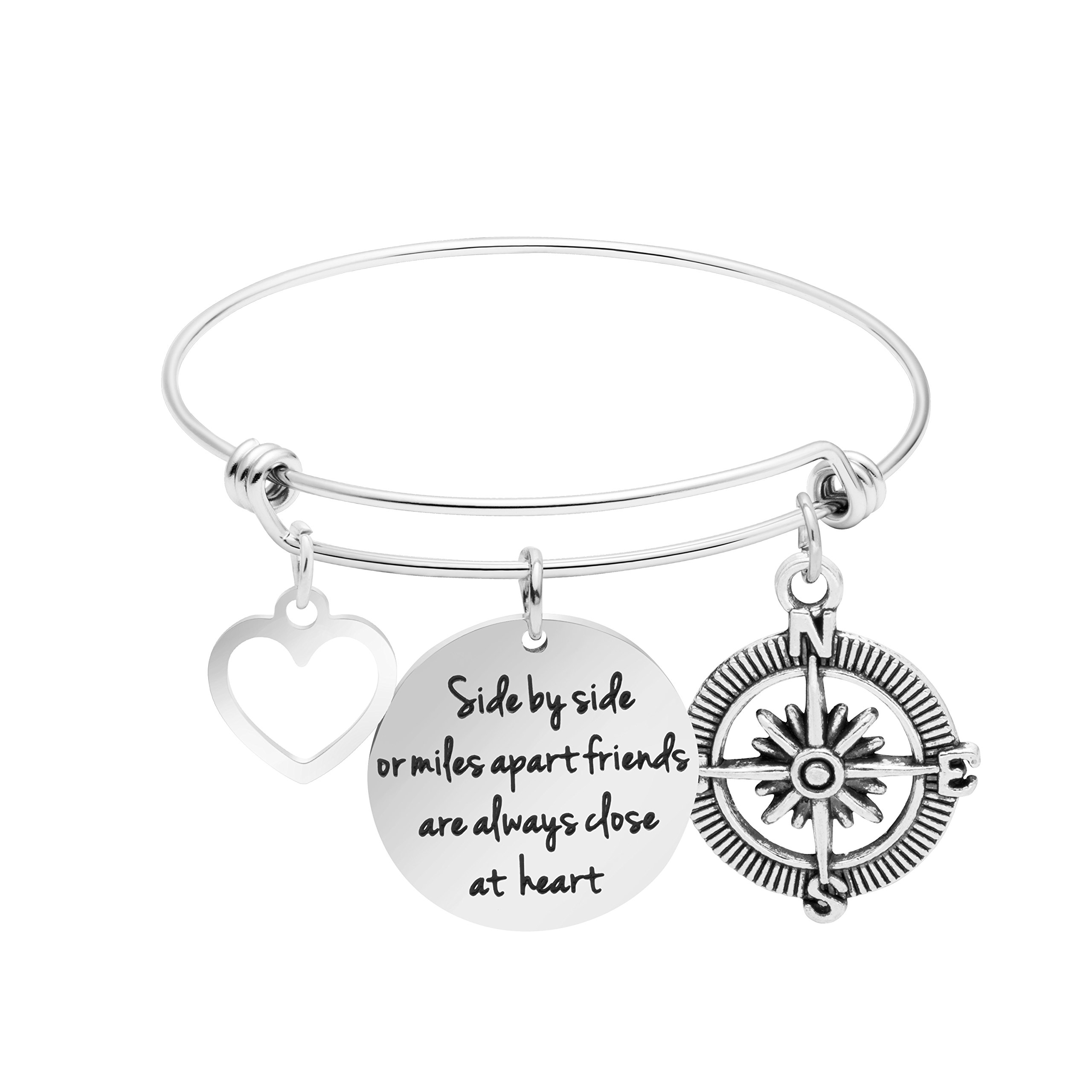 Awegift Friendship Jewelry Best Friend Bracelet Graduation Gift for Her Side by Side or Miles Apart Friends are Always Close at Heart