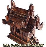 echtes thailändisches Geisterhaus original und neu aus Chiang Mai Thailand ca 27 cm hoch, 100 Prozent FAIRER HANDEL UND KEINE KINDERARBEIT!