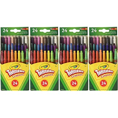 Crayola Mini Twistable Crayons 24 in a Box (Pack of 4) 96 Crayons in Total: Arts, Crafts & Sewing