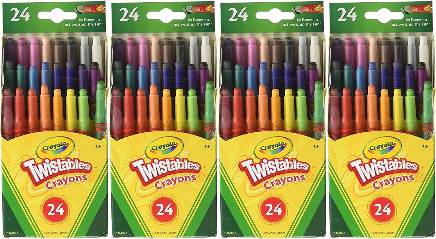 72 Crayons in Total Pack of 3 Crayola Mini Twistable Crayons 24 in a Box