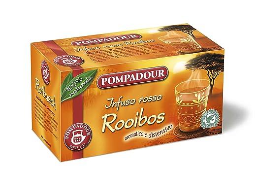14 opinioni per Pompadour Infusione per Bevande Calde, Rosso Rooibos RFA- 20 Filtri