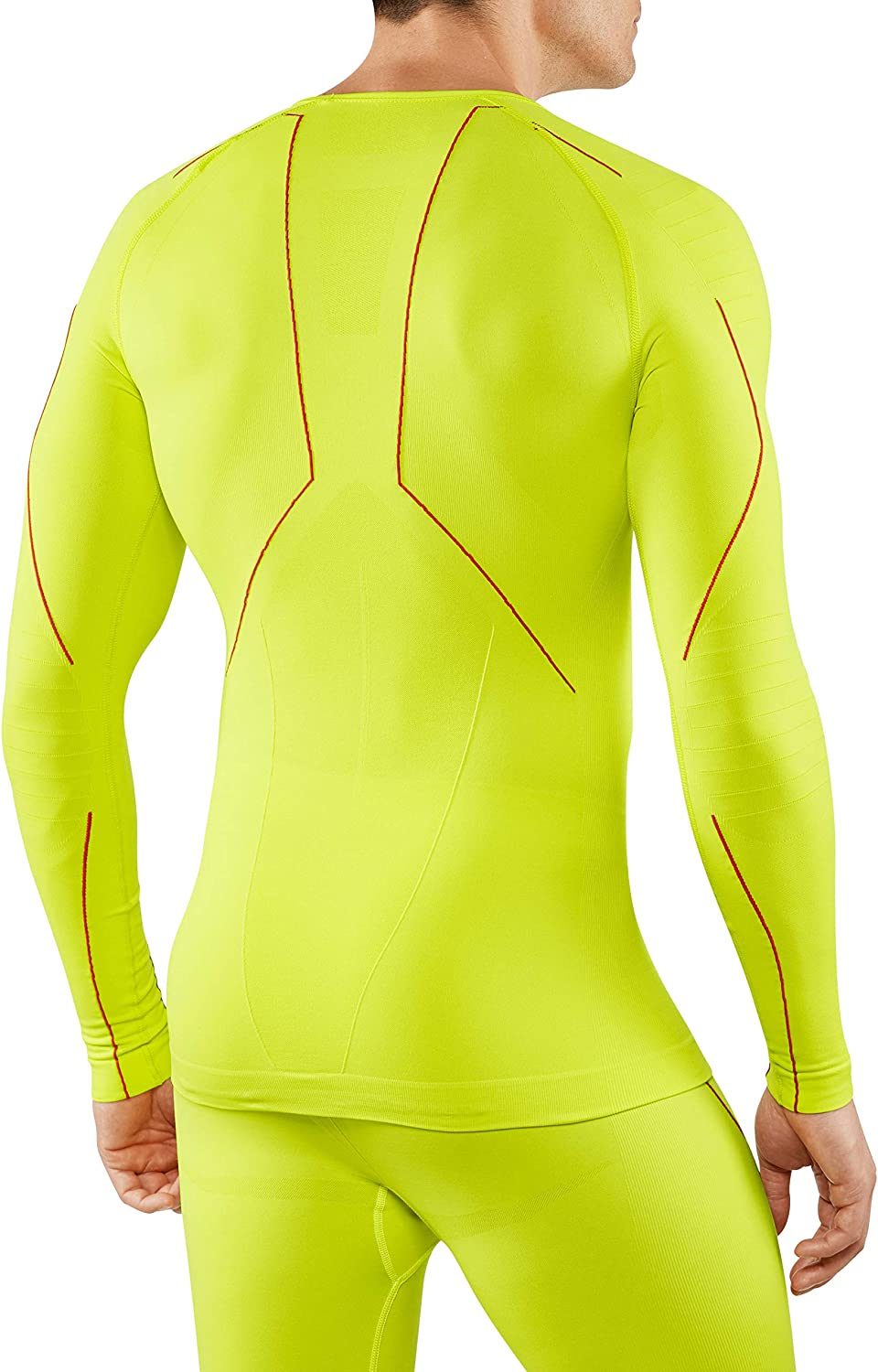 FALKE Herren Langarmshirt Warm Tight Fit, Sport Performance Material, 1 Stück Bright Yellow