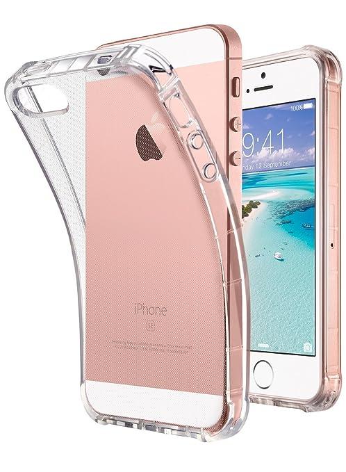 Carcasa para iPhone SE, Transparente, iPhone 5S, iPhone 5 ...
