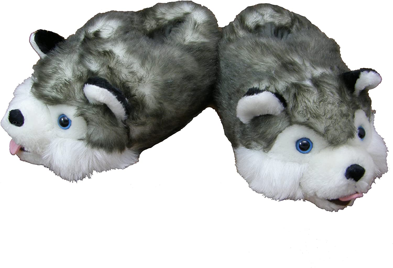 Orlob Husky Plush Slippers Sizes S To Xl Eu Size 28 31 To Eu Size 42 44 Xl Grey Amazon Co Uk Shoes Bags