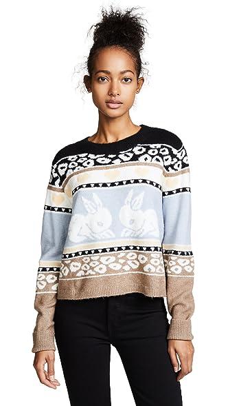 Wildfox Women's Bunny Fair Isle Sweater at Amazon Women's Clothing ...