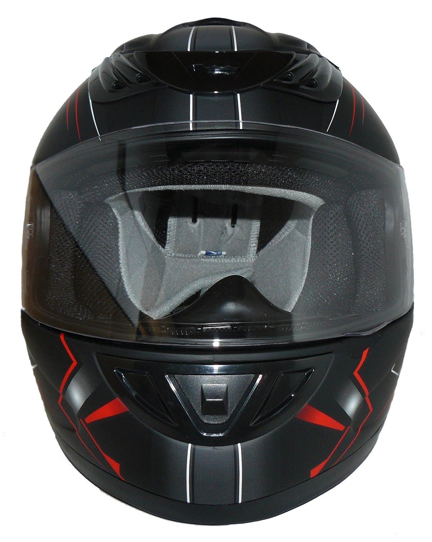 Black Gr/ö/ße L protectWEAR Integralhelm mit Sonnenblende H520-ARROW-RT