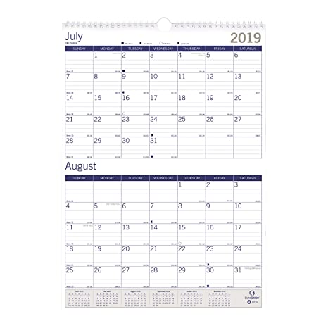 Amazon.com : Blueline 2019-2020 DuraGlobe Academic Two-Month ...