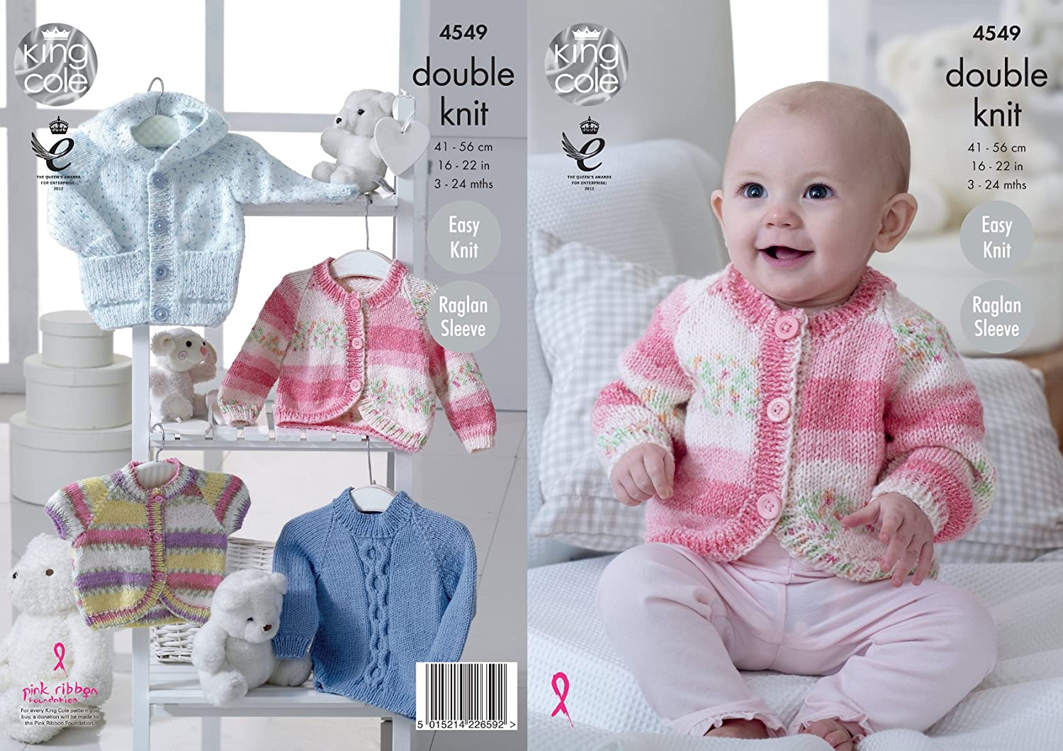 Amazon king cole baby double knitting pattern easy knit amazon king cole baby double knitting pattern easy knit raglan sleeve hoody cardigans sweater dk 4549 home kitchen bankloansurffo Image collections