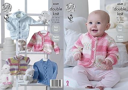Amazon King Cole Baby Double Knitting Pattern Easy Knit Raglan