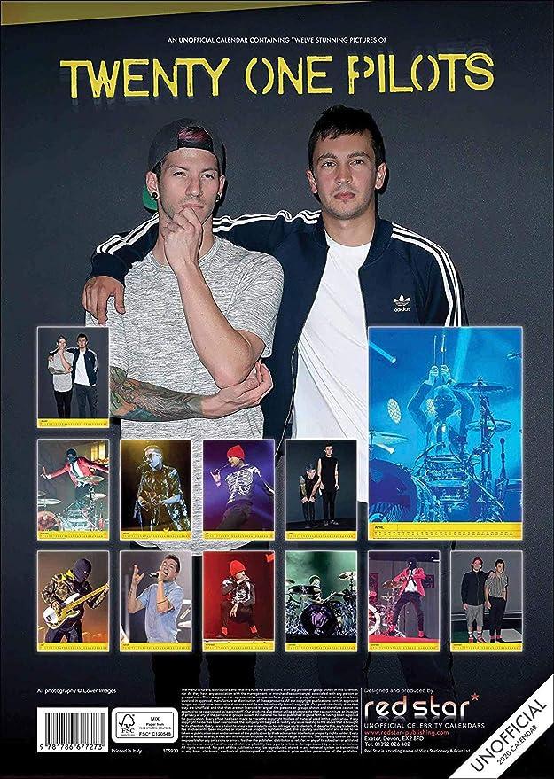Twenty One Pilots Tour Dates 2020.Amazon Com Twenty One Pilots Calendar 2020 Twenty One