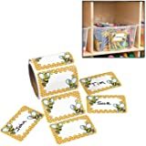 """Bumblebee Name Tags/labels (100 Pack) 3 1/2"""" X 2 1/4"""". Paper."""