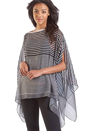 fcd6268c0 Image Unavailable. Image not available for. Color: Charlie Paige Black and White  Lightweight Poncho