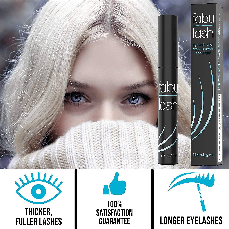 1a87068dd61 Amazon.com: Eyelash Growth Serum - Eyelash and Brow Growth Treatment For  Lashes - 5mL Eyelash Formula by FabuLash: Beauty