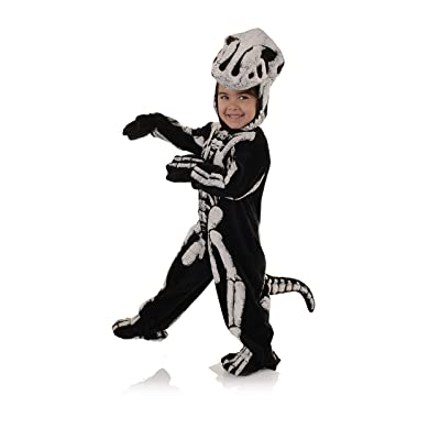 Toddler\'s T-Rex Skeleton Costume - Fossil Black/White: Clothing [5Bkhe0402609]