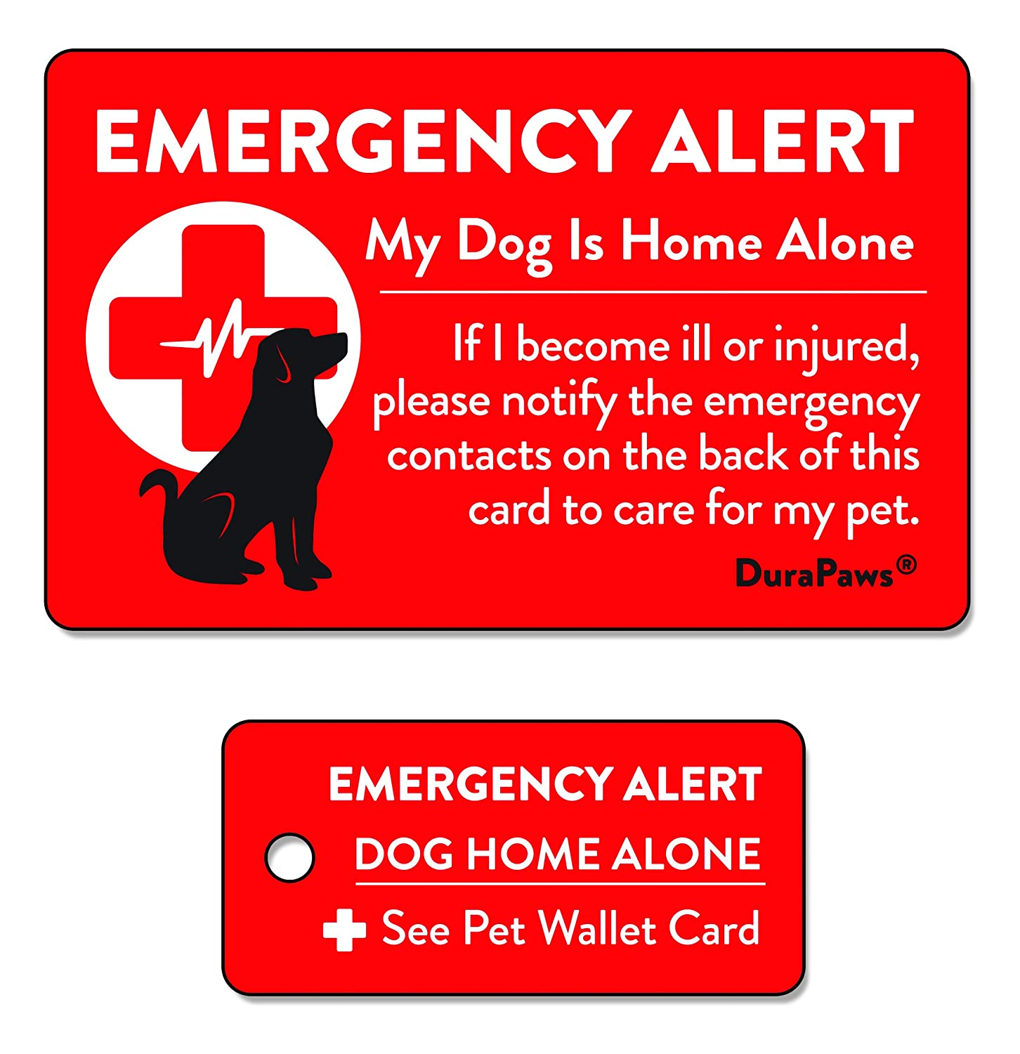 Excellent Durapaws Pets Dogs Cats Are Home Alone Alert Emergency Plastic Contact Wallet Card And Key Tag Writable Surface On Back Side Of Card Beutiful Home Inspiration Aditmahrainfo