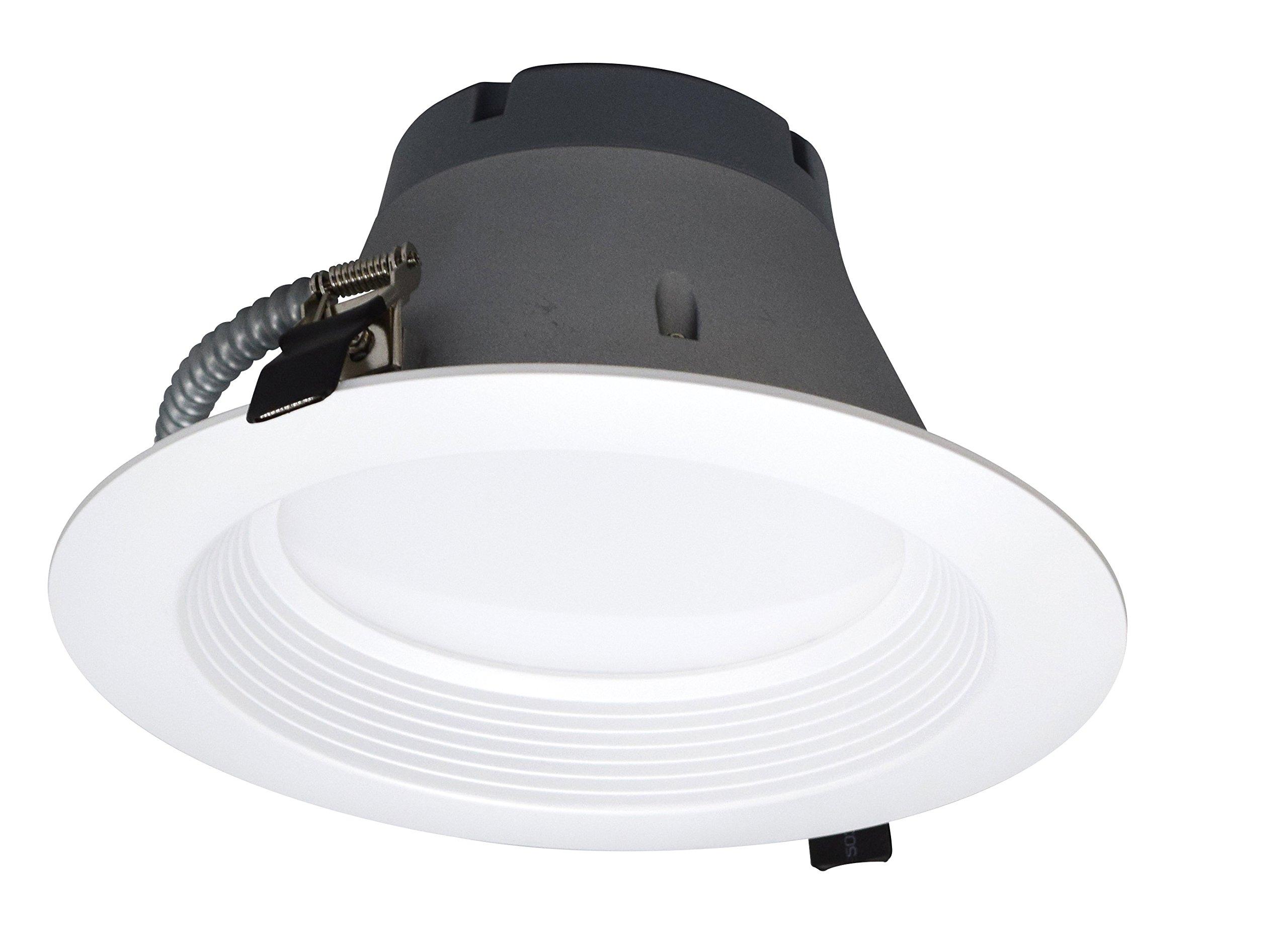 8'' Inch Architectural Recessed Down Light Retrofit Trim Dimmable 27 Watts 2000 Lumens (5000 Kelvin)