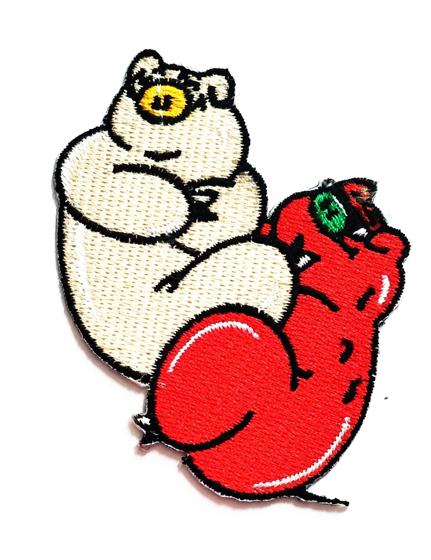 Nipitshop Patches Cute Pig Animal Farm Pig Sex Love Cartoon Kids Patch Embroidered Iron On Patch for Clothes Backpacks T-Shirt Jeans Skirt Vests Scarf Hat Bag