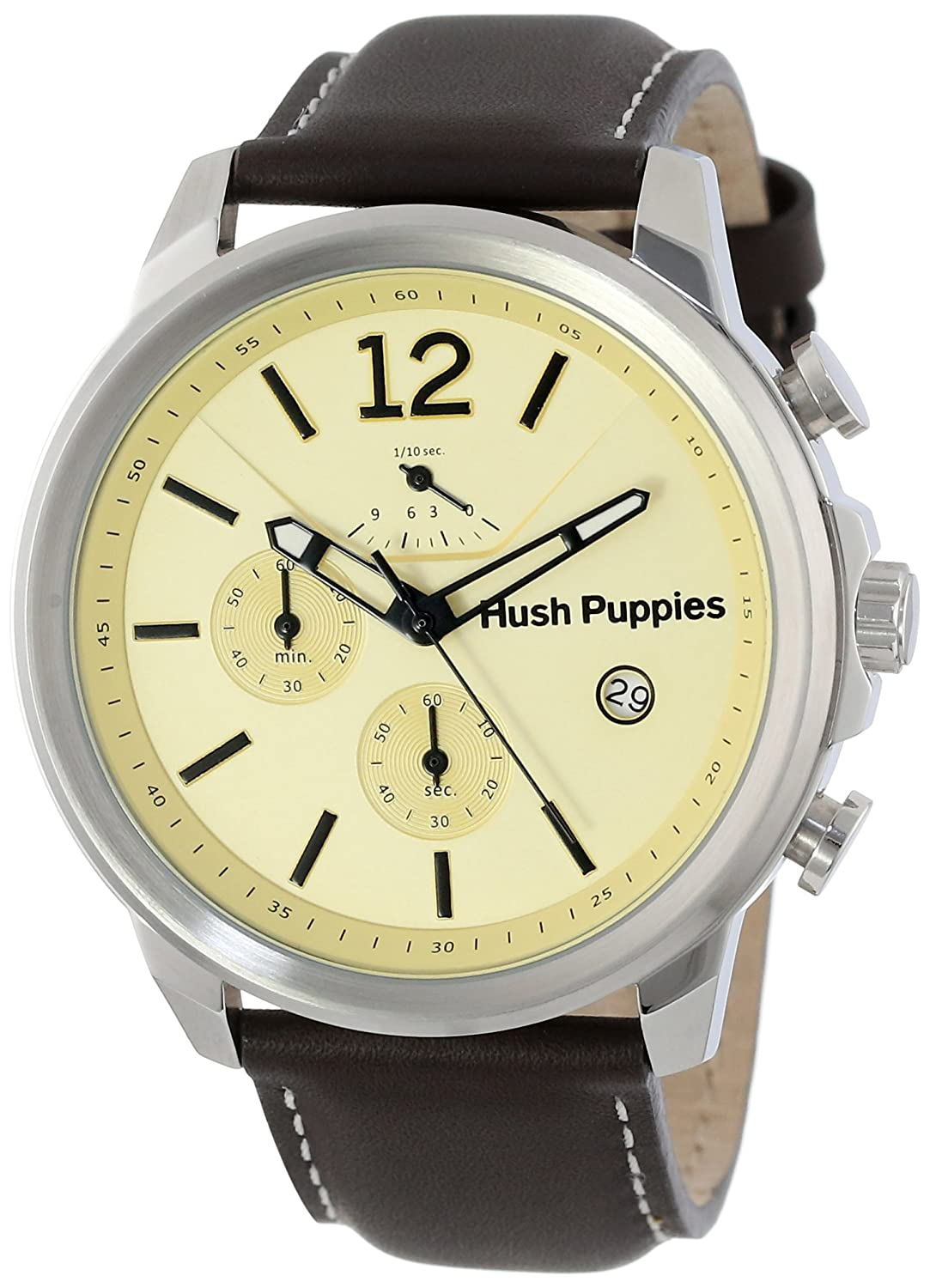 Hush Puppies Orbz Men'Armbanduhr Analog Automatik Leder braun HP .2.2519 .6065 m