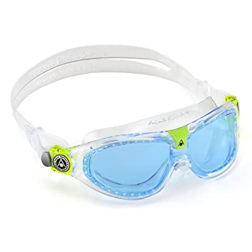 58faab16d48e84 Aqua Sphere Kid's Seal Kid 2 Goggles with Blue Lens, Transparent, Goggles -  Amazon Canada