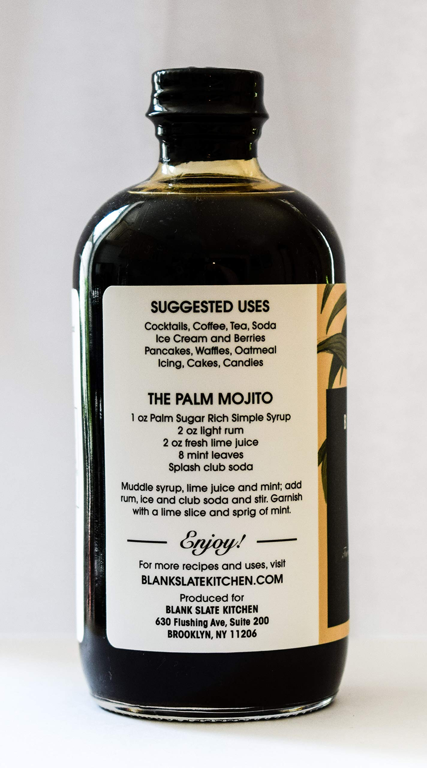 Palm Sugar Rich Simple Syrup | by Blank Slate Kitchen | 8 ounce | Cocktail Mixer or Dessert Topping by Blank Slate Kitchen