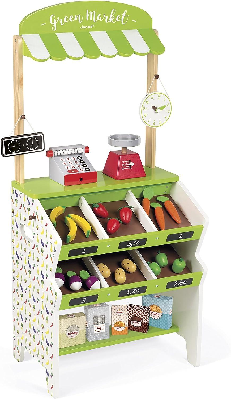 Janod Kaufladen - Kinder Marktstand - Spielzeug Marktstand