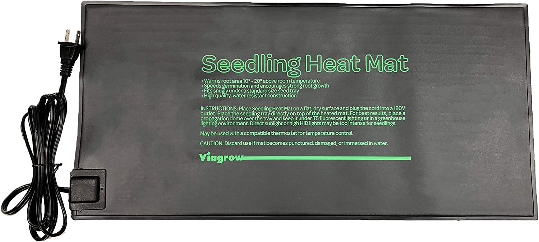 "Viagrow VSEEDMAT 20.5 in. x 8.5 in. Seed Propagating Seedling Heat Mat, 1-Pack 20""8"""
