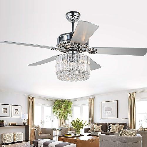 52 inch Crystal Ceiling Fan