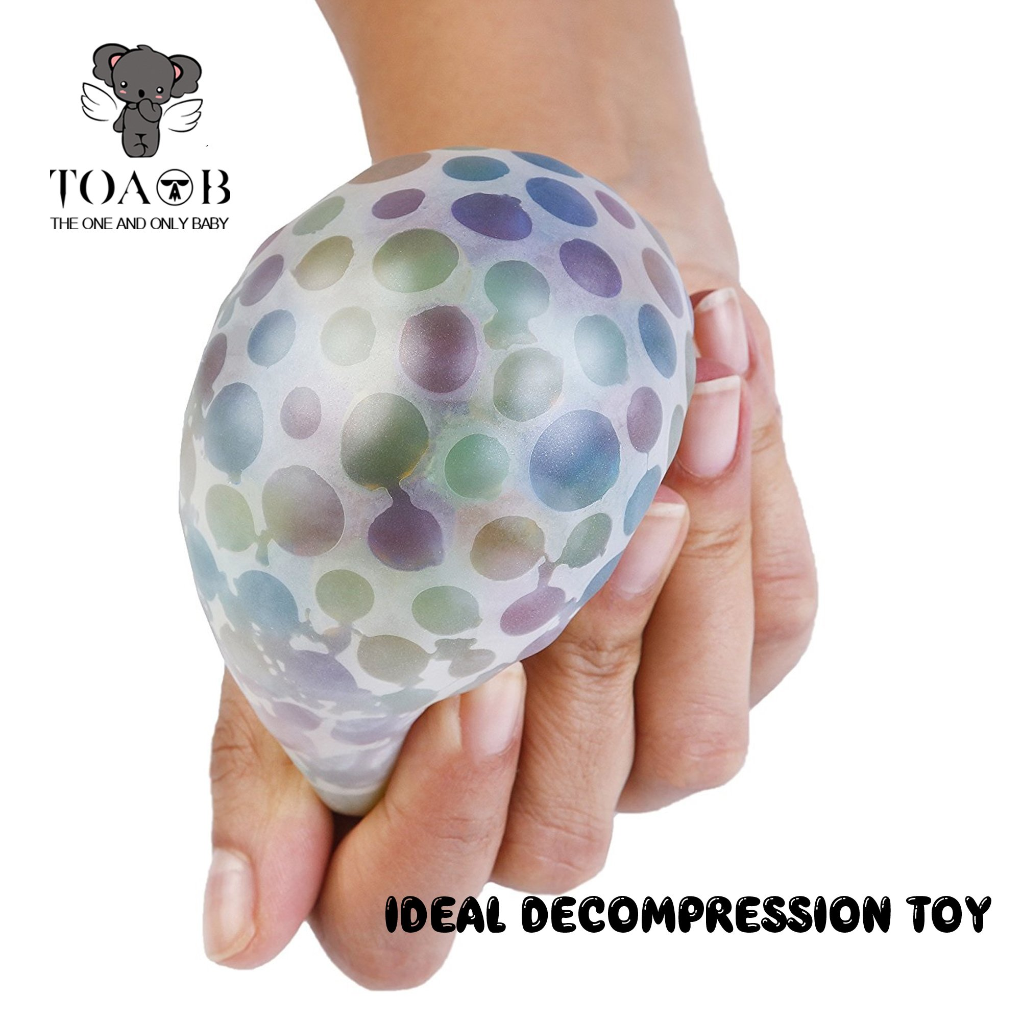 TOAOB 50000 Small water beads 10 Balloons Biodegradable Non Toxic Bottle Pack Water Beads Kids Tactile Sensory Toys Vase Filler Wedding Centerpiece Home Decoration Plants