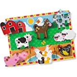 Melissa & Doug Farm Chunky Puzzle (Preschool, Chunky Wooden Pieces, Full-Color Pictures, 8 Pieces, Great Gift for Girls…
