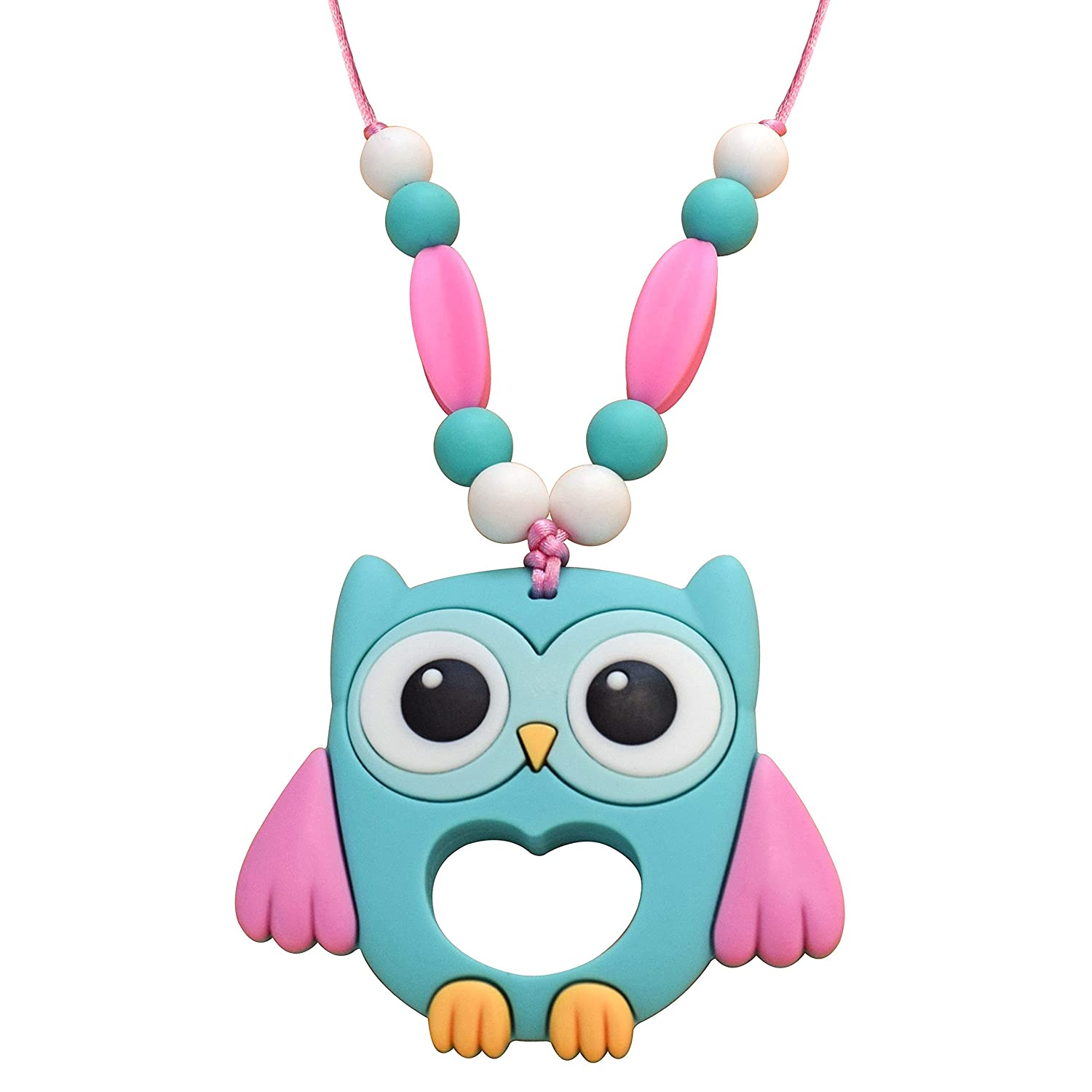 カウくる Munchables Kids Chewelry Necklace Munchables Necklace - Chewable Sensory Munchables Owl Necklace (Aqua) by Munchables Chewelry B01HKAPLHE, 城崎町:451fcd85 --- a0267596.xsph.ru