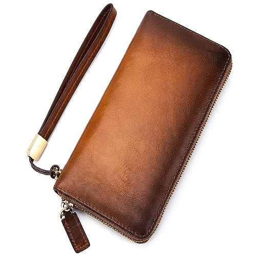 c075ad7f235e Amazon   長財布 レザー メンズ 財布 - 熟練した技術を誇る革職人が作る ...