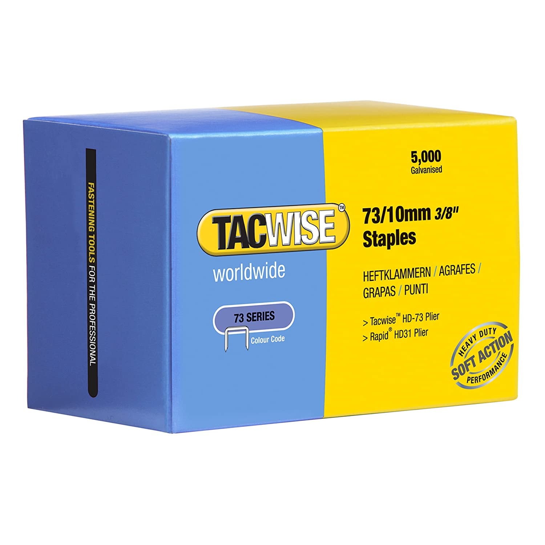 Set de 5000 Piezas Tacwise 0456 Grapas de tipo 73//10 mm