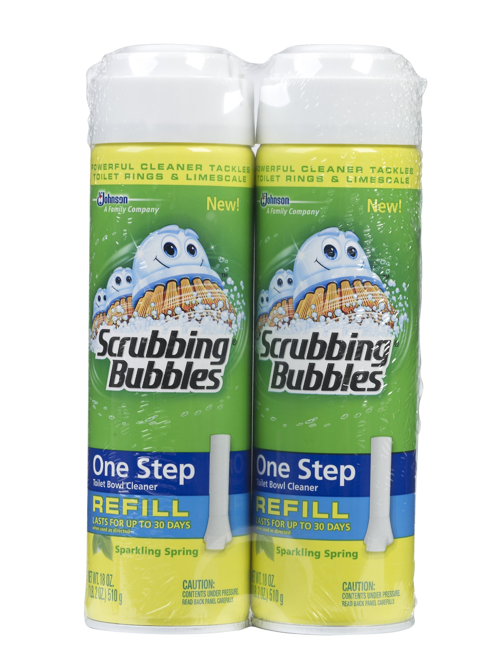 Scrubbing Bubbles One Step Toilet Cleaner Refill, Sparkling Spring ,18 Ounce- Twin Pack