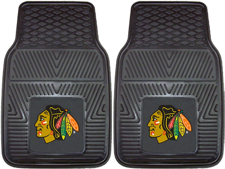 2 Pack Fanmats Chicago Blackhawks Automotive Floor Mat