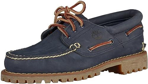 TIMBERLAND 3 EYE chaussures hommes basses mocassins en cuir noir CA11ZO