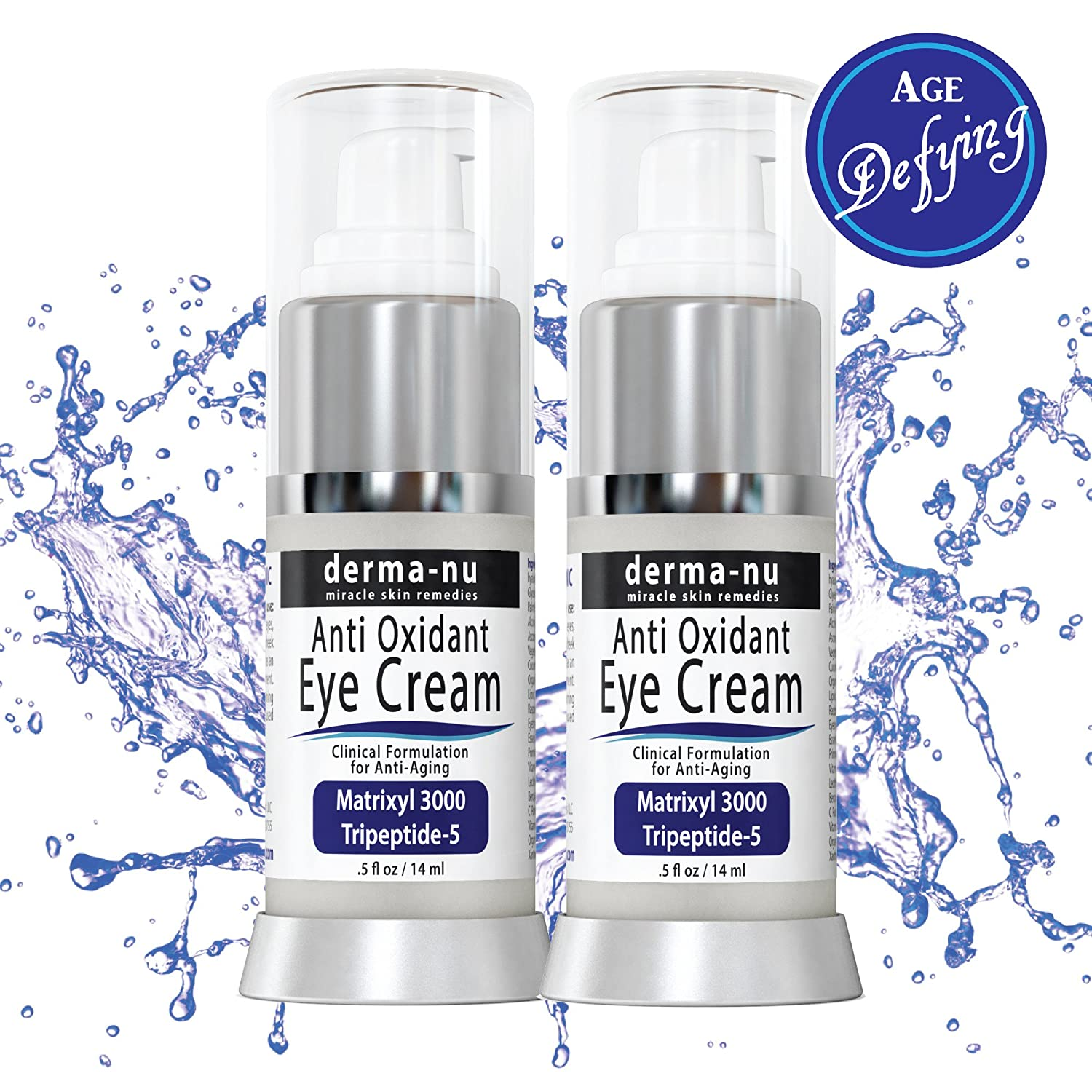 Eye Cream For Dark Circles And Puffiness - 2 Pack - Treatment For Under Eye Wrinkles Dark Circles Crows Feet And Puffy Eyes - Moisturize Sensitive Eyes With Powerful Anti Aging Properties