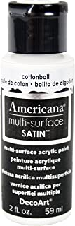 product image for DecoArt Americana Multi-Surface Satin Acrylic Paint, 2-Ounce, Cotton Ball
