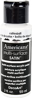 product image for DecoArt Americana Multi-Surface Satin Acrylic Paint, 2-Ounce, Cotton Ball