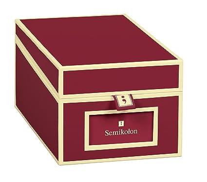Semikolon 352640 Visitenkarten Box Mit Registern In Burgundy Dunkel Rot Bussiness Card Box Alternative Zu Visitenkartenmappe Karteikasten