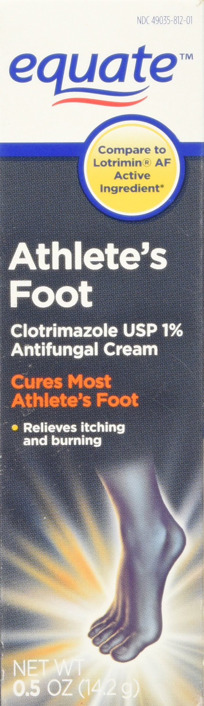 Equate Athlete's Foot .5oz Clotrimazole Anti Fungal Cream Compare to Lotrimin AF