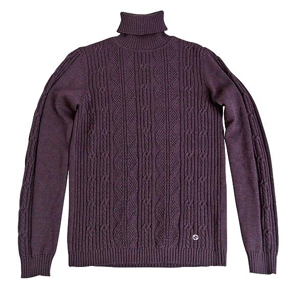 03d20fc1 Gucci Kids Unisex Burgundy Wool Turtle Neck Sweater Top with Interlocking  293109 (Size G 8