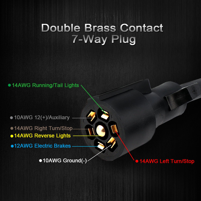 XKTTSUEERCRR 6pcs 2.3Meter Extension Cables for 18Led 54Led 72Led Car Emergency Warning Flashing Strobe Light
