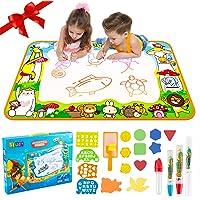 TLLAYGM Kids Magic Doodle Mat Water Doodle Drawing Mat Design Deluxe Maat 100 * 70cm jongens en meisjes Doodle Educatief…